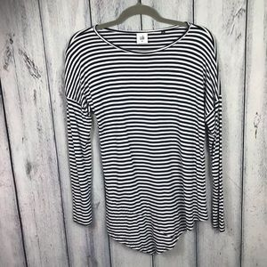 CABI XS Tunic Top Nlouse Striped Soft Stretcht